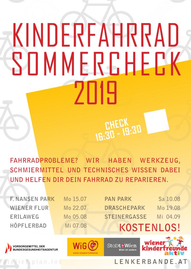 Flyer zum Kinderfahrrad Sommercheck 2019
