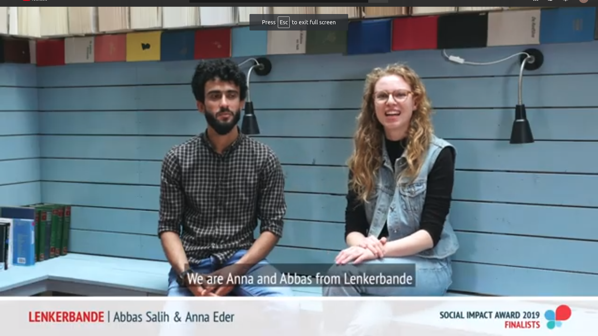 Anna und Abbas beim Video-Interview